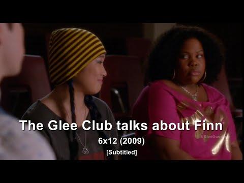 GLEE- The Glee Club talk about Finn | 2009 [Subtitled] HD