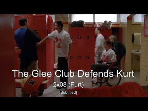 GLEE- The Glee club defends Kurt from Karofsky | Furt [Subtitled] HD